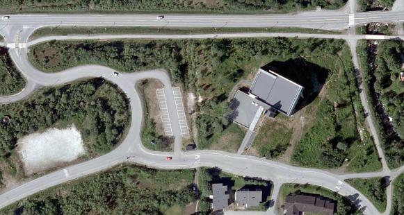 Kroken kirke flyfoto